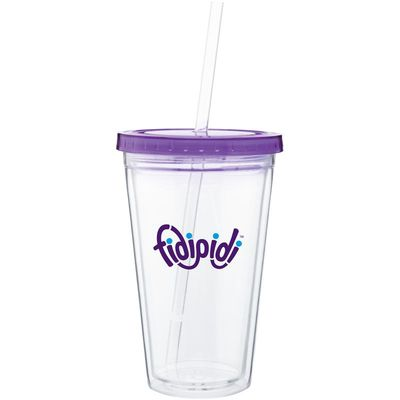 16 oz Spirit Tumbler With Color Lid